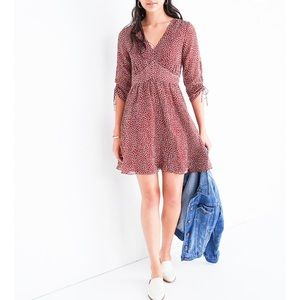 NWT Madewell Starviolet Ditsy Flower Mini Dress